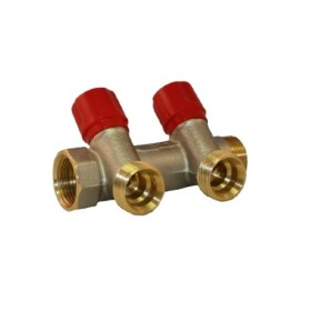 2 ways DZR brass Euroconus manifold