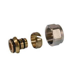 Multilayer pipe adaptor, DZR brass