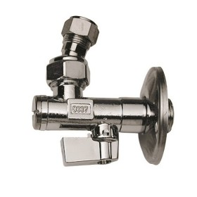 Ball angle valve with filter and articulated joint