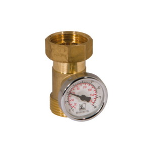 Thermometer holder with thermometer and swivel nut