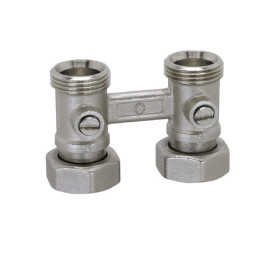 "Straight ""H"" double valve for panels radiators"