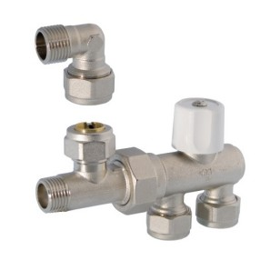 Valve for monopipe system for panels radiators