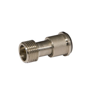Nut and telescopic tailpiece for radiator valve or lockshield