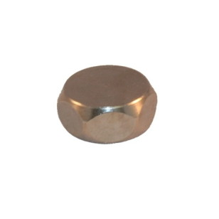 Brass cap for lock-shield valve EXPORT series