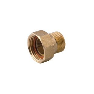 2 pieces male-female fitting with gasket, flat seat