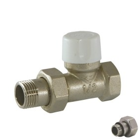 Straight lockshield-valve for iron pipe
