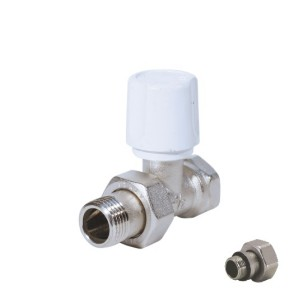 Straight radiator valve for iron pipe