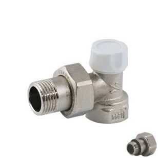 Angle lockshieldvalve, for iron pipe