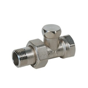 Straight lockshieldvalve for iron pipe