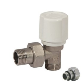 Angle radiator valve for copper, multilayer and Pex pipe