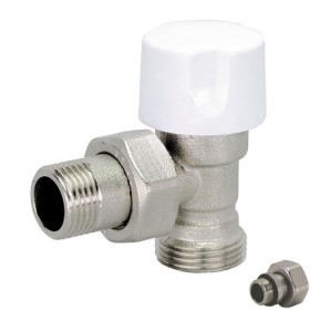 Angle Euroconus thermostatic radiator valve for copper, multilayer and Pex pipe