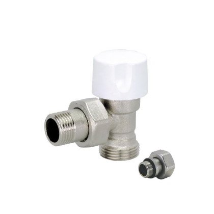 Angle Euroconus thermostatic radiator valve for copper pipe