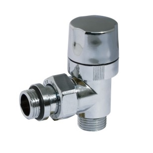 Angle thermostatic radiator valve for copper, multilayer and Pex tube