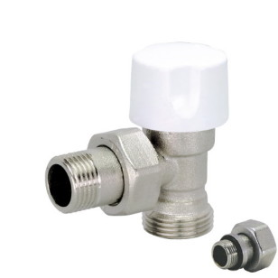 Angle 24x19 thermostatic radiator valve for copper pipe