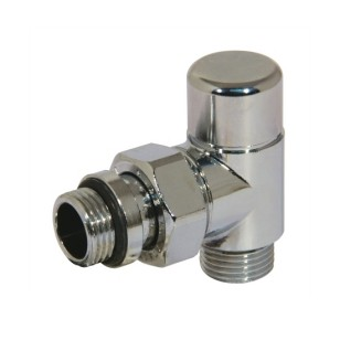 Angle lockshield valve for copper, multilayer and Pex pipe