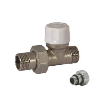 Straight lockshield-valve for copper,multilayer and Pex pipe