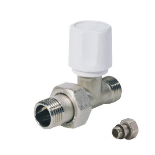 Straight radiator Euroconus valve for copper, multilayer and Pex pipe