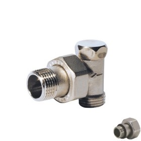 Euroconus angle lockshield-valve light pattern brass cap for copper, multilayer and Pex tube