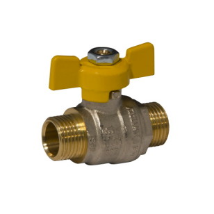MM full bore ball valve PN40 with butterfly handle