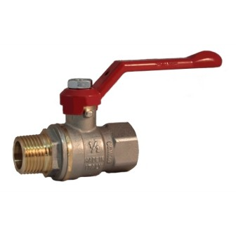 MF full bore ball valve PN 40 with aluminum lever handle