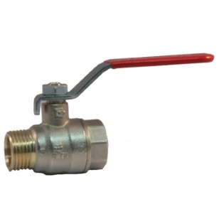 MF ball valve PN 25 with iron lever handle
