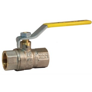 FF gas ball valve with iron lever handle