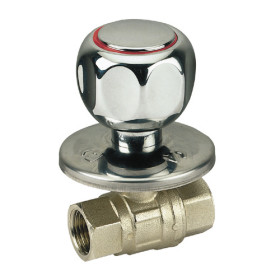 Built-in FF ball valve with chromed handle