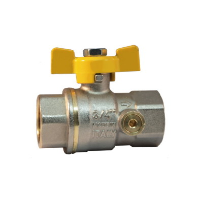 FF ball valve with pressure gage port