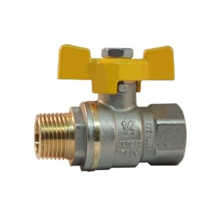 MF heavy full bore gas ball valve with butterfly handle