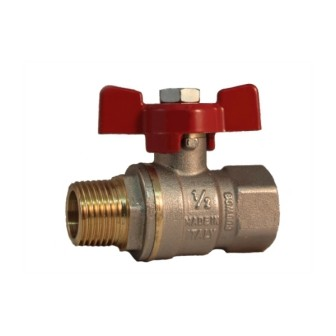 MF full bore ball valve PN 40 with butterfly handle