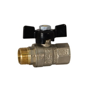 MF ball valve PN30 with butterfly handle