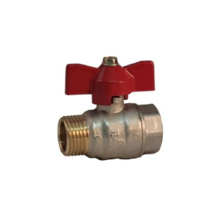 MF ball valve PN 25 with butterfly handle