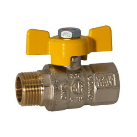 MF gas ball valve with butterfly handle
