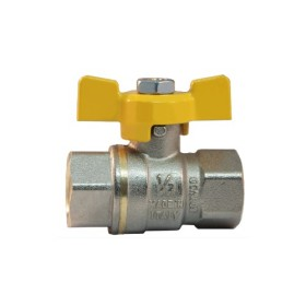 FF heavy full bore gas ball valve with butterfly handle
