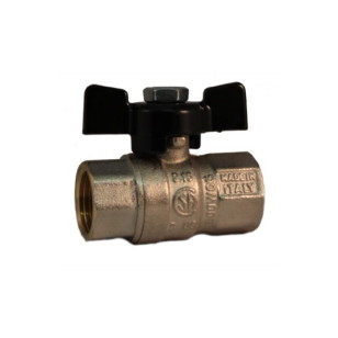 FF ball valve PN30 with butterfly handle