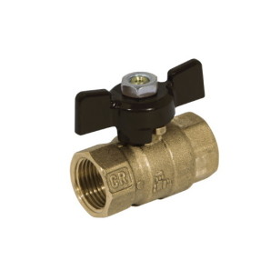 FF DZR brass ball valve PN25, butterfly handle