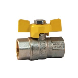 FF gas ball valve with butterfly handle