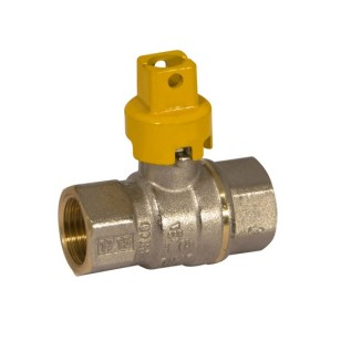 FF full bore ball valve with square lock shield handle