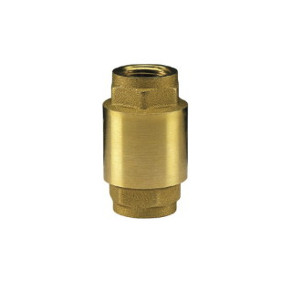 Brass check valve PN25, plate in stainless steel