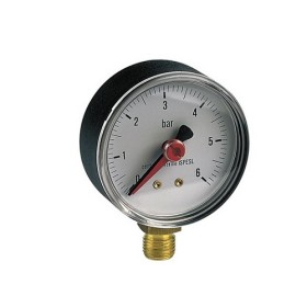 Manometer with vertical connection
