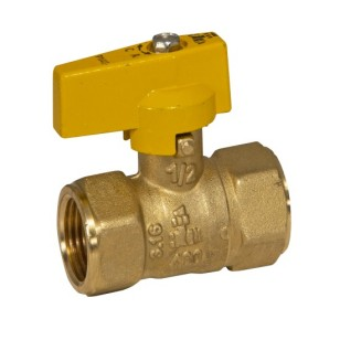 FF NPT heavy gas ball valve with aluminum small lever handle