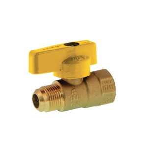 F NPT x FLARE one piece body ball valve with aluminum handle