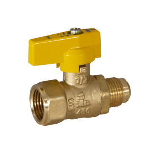 F NPT x FLARE gas ball valve with aluminum lever handle