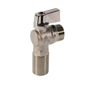 Angle ball valve male-male connection, nichel zama lever handle