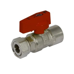 Ball valve with female connection and sliding nut