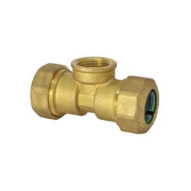 Female T shaped pipe fitting quick connection