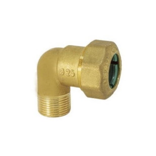 Male curved pipe fitting quick connection