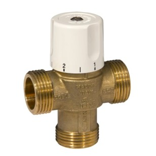 3 ways thermostatic mixing valve with male connection