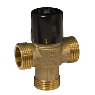 3 ways solar thermostatic mixing valve, male - h.temperature
