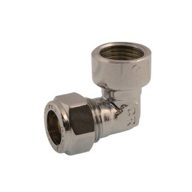 Angle coupling with nut, female connection, DZR brass